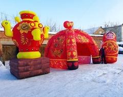 Надувные фигуры и декорации на Масленицу для праздничных гуляний