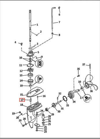 Втулка стакана редуктора. 15*11*15  для лодочного мотора T2,5 SEA-PRO (8-17)