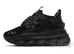 Кроссовки Versace Chain Reaction 2 Chainz All Black