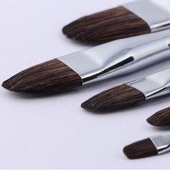Набор кистей из колонка Transon, 6 шт., длинная ручка