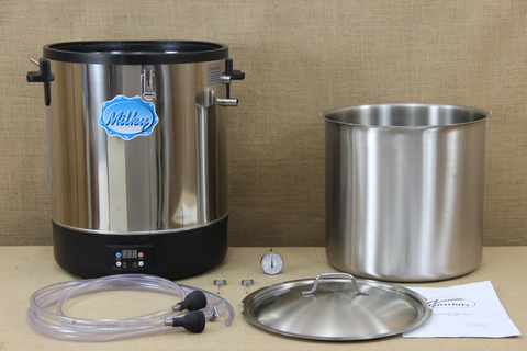 Автоматический пастеризатор молока - сыроварня со съёмным внутренним баком, нержавеющая сталь