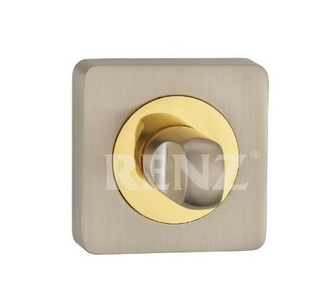 Завёртка К Ручкам  Renz BK 02, цвет никель матовый/латунь блестящая