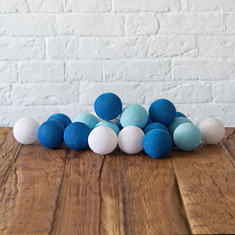 Гирлянда из хлопковых шариков Море