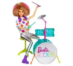 Кукла Барби  Барабанщик с акусессуарами - Рокеры, Mattel