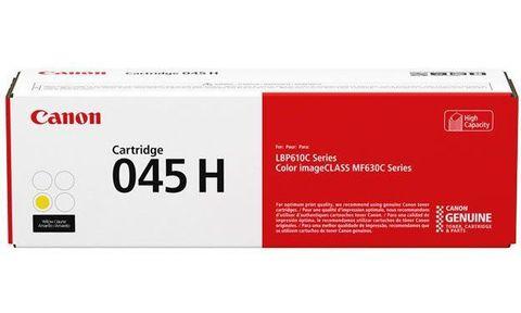 Тонер-картридж повышенной емкости Canon Cartridge 045 H Y  желтый (2200 стр) 1243C002