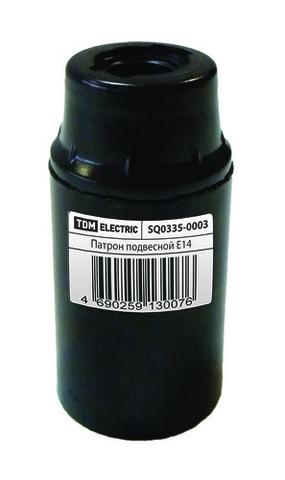 Патрон карболитовый подвесной, Е14, черный, TDM