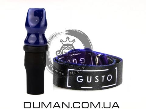 Персональный мундштук Gusto Bowls (Густо Болс) для кальяна |Dark-Blue Gusto