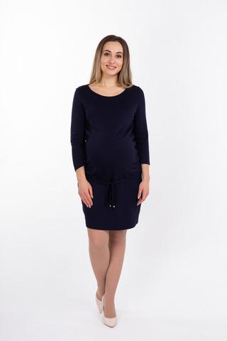 Платье для беременных 08064 темно-синий