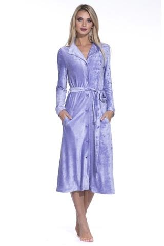 De Soie 397  сирень велюровый женский  халат  PECHE MONNAIE Россия