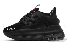 Кроссовки Versace Chain Reaction 2 Chainz All Black