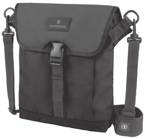 Сумка наплечная VICTORINOX Altmont™ 3.0 Flapover Bag, чёрная, нейлон Versatek™, 27x6x32 см, 5 л
