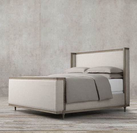 Maison Upholstered Shelter Bed with Footboard