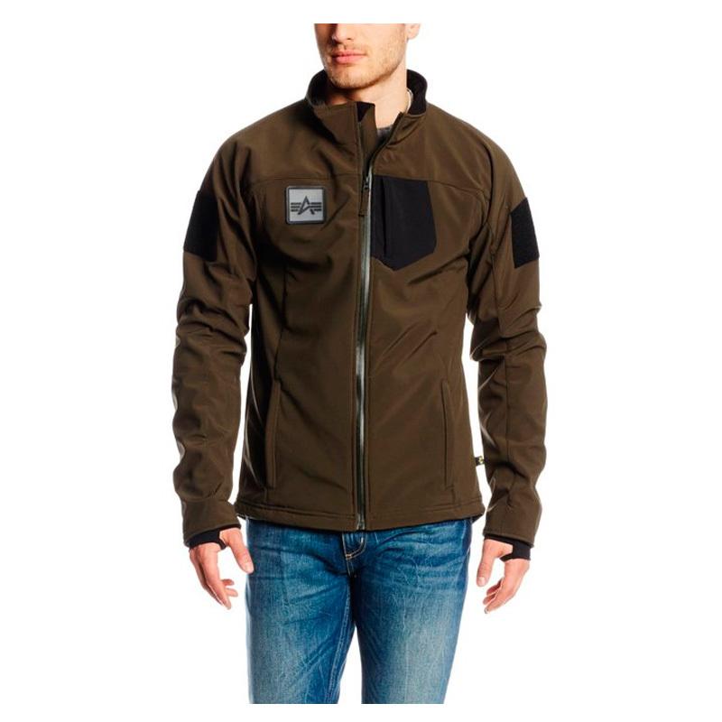 Куртка Мужская - Alpha Robinson  Softshell (оливковая - olive)