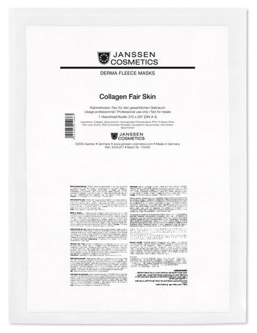 Коллаген осветляющий (белый лист),Janssen Collagen Fair Skin,1 лист.