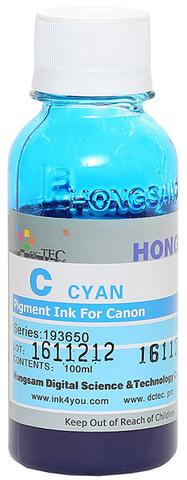 Чернила Dctec для Canon Pixma PRO, пигментные синие (Cyan), 100 мл (Серия 193650)