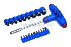 Набор отвертка с Т-образной ручкой с битами и головками, 20 предметов, Remocolor 33-2-123