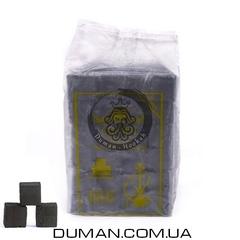 Натуральный кокосовый уголь Crown (Краун) для кальяна |1кг 72куб 25*25мм Пакет