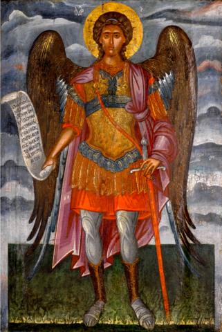 Икона Архангел Михаил 17 век Греция на дереве на левкасе мастерская Иконный Дом