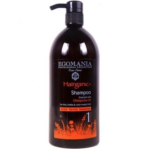 Шампунь с маслом облепихи для тонких, ломких и окрашенных волос, Egomania Hairganic,1000 мл.