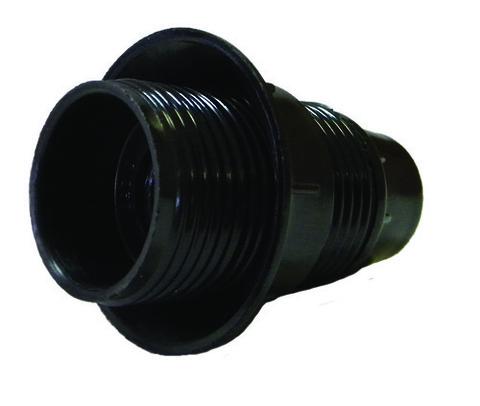 Патрон карболитовый с кольцом, Е27, черный, TDM