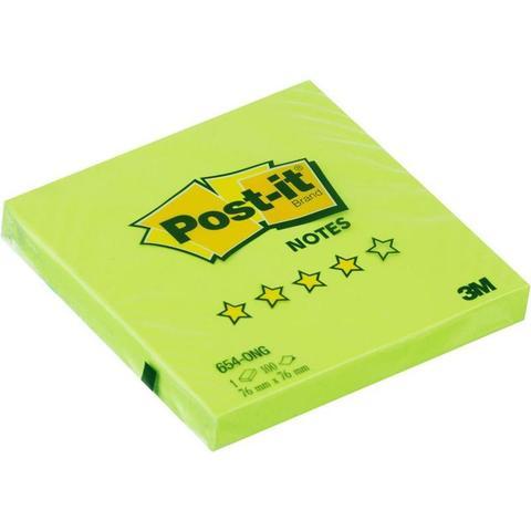 Блок-кубик Post-it Optima 654-ONG, 76х76 весна салат.неон, 100 л.