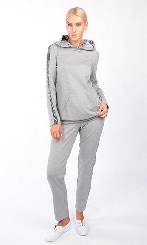 Евромама. Костюм для беременных и кормящих брюки и свитшот, светло-серый