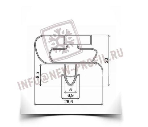 Уплотнитель 47,5*54 см по пазу для морозильной камеры Атлант МХМ-1802. Профиль 021