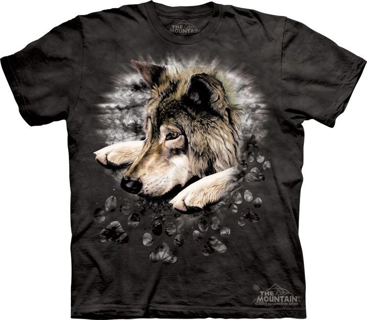 Футболка Mountain с изображением волка - Wolf In Dye Paw