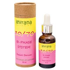 Levrana, Двухфазная сыворотка для лица 30/70, с маслом Дамасской Розы, 30мл