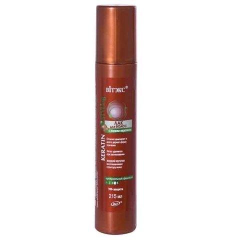 ЛАК для волос с жидким кератином суперсильной фиксации | Белорусская косметика «Витекс» интернет магазин «BelarusTorg»