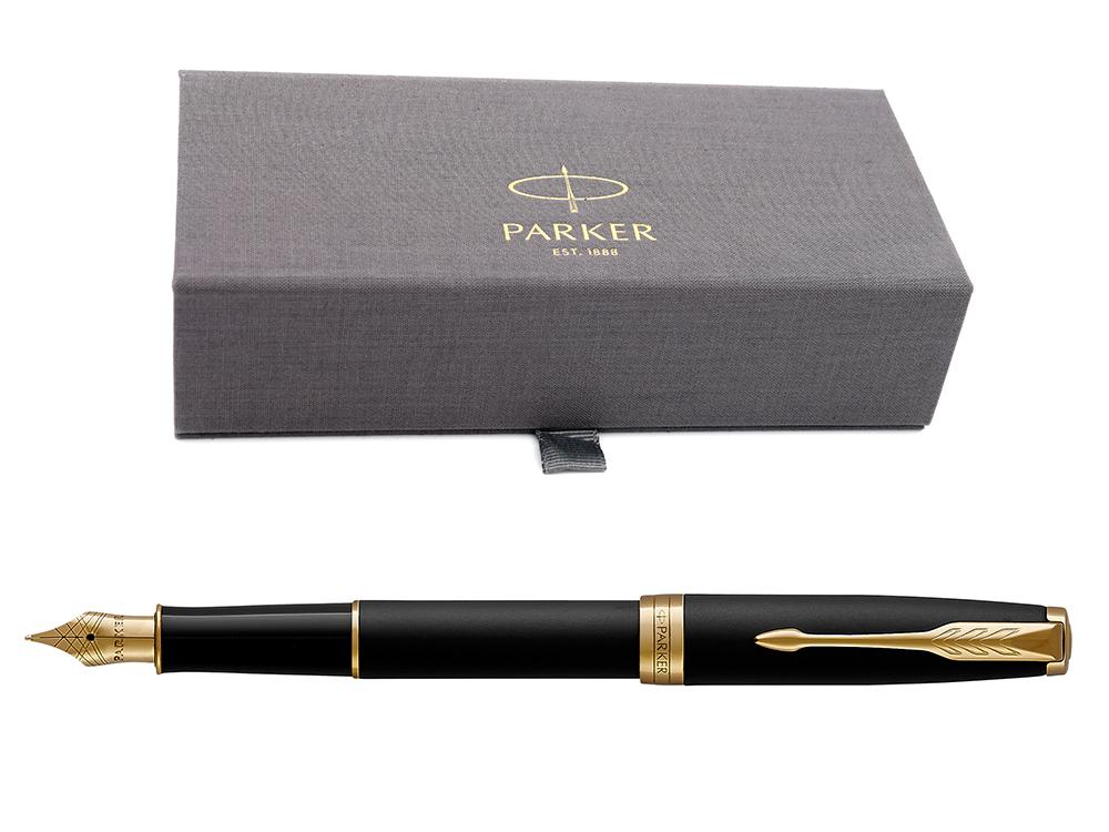 Parker Sonnet Core - Matte Black GT, перьевая ручка, F, BL*