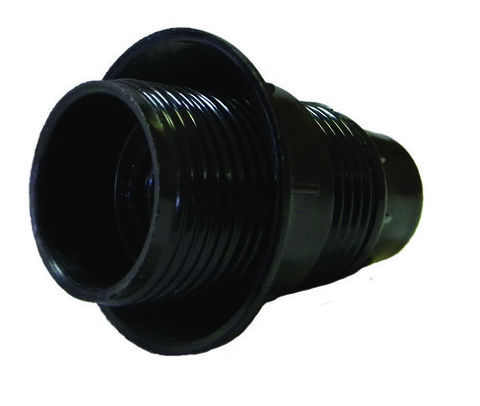 Патрон карболитовый подвесной, Е27, черный, Б/Н TDM