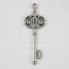 "Подвеска ""Ключ 2"" (цвет - античное серебро) 44х17 мм"