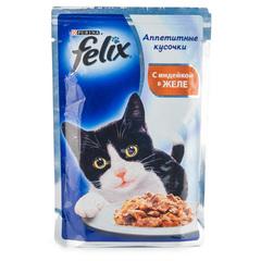 """Корм для кошек Felix """"С индейкой в желе"""" 85г"""