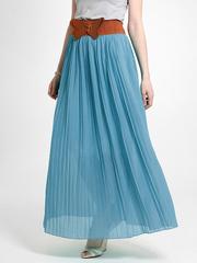 U288-2 юбка женская, голубая