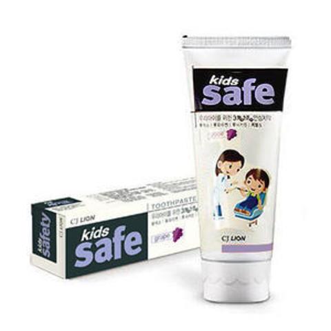 CJ LION Kids Safe Зубная паста детская от 3-х до 12-ти лет со вкусом Винограда 90 гр