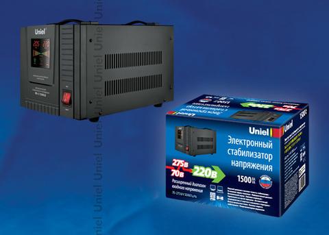 RS-1/1500LS Стабилизатор напряжения «Uniel» релейный однофазный напольный, 70-275 В, 1500ВА