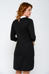 """Строгое офисное платье - имитация """"двойки"""". (Длина: 44-88см; 46-89см; 48-90см; 50-93см)."""