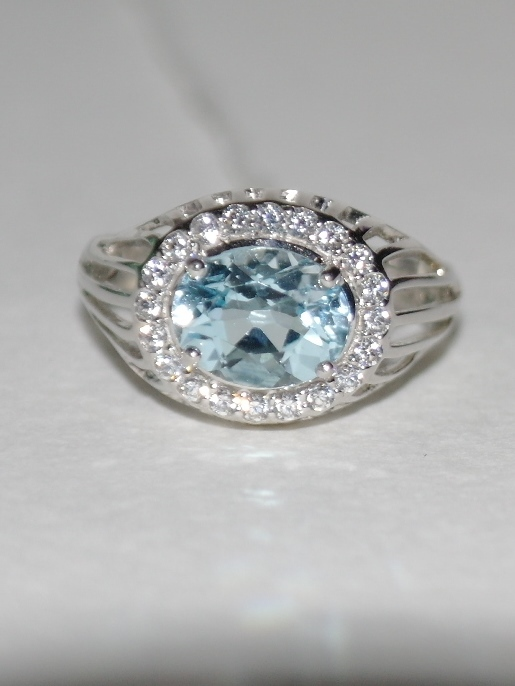 1100411-топаз (кольцо из серебра)