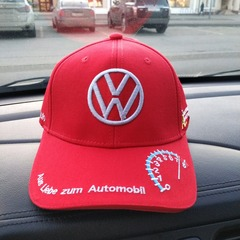 Бейсболка Фольксваген красная (Кепка Volkswagen)