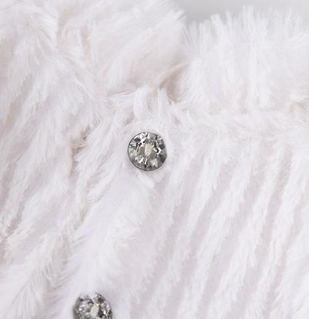 Одежда для большой Зайки Ми Белая шубка