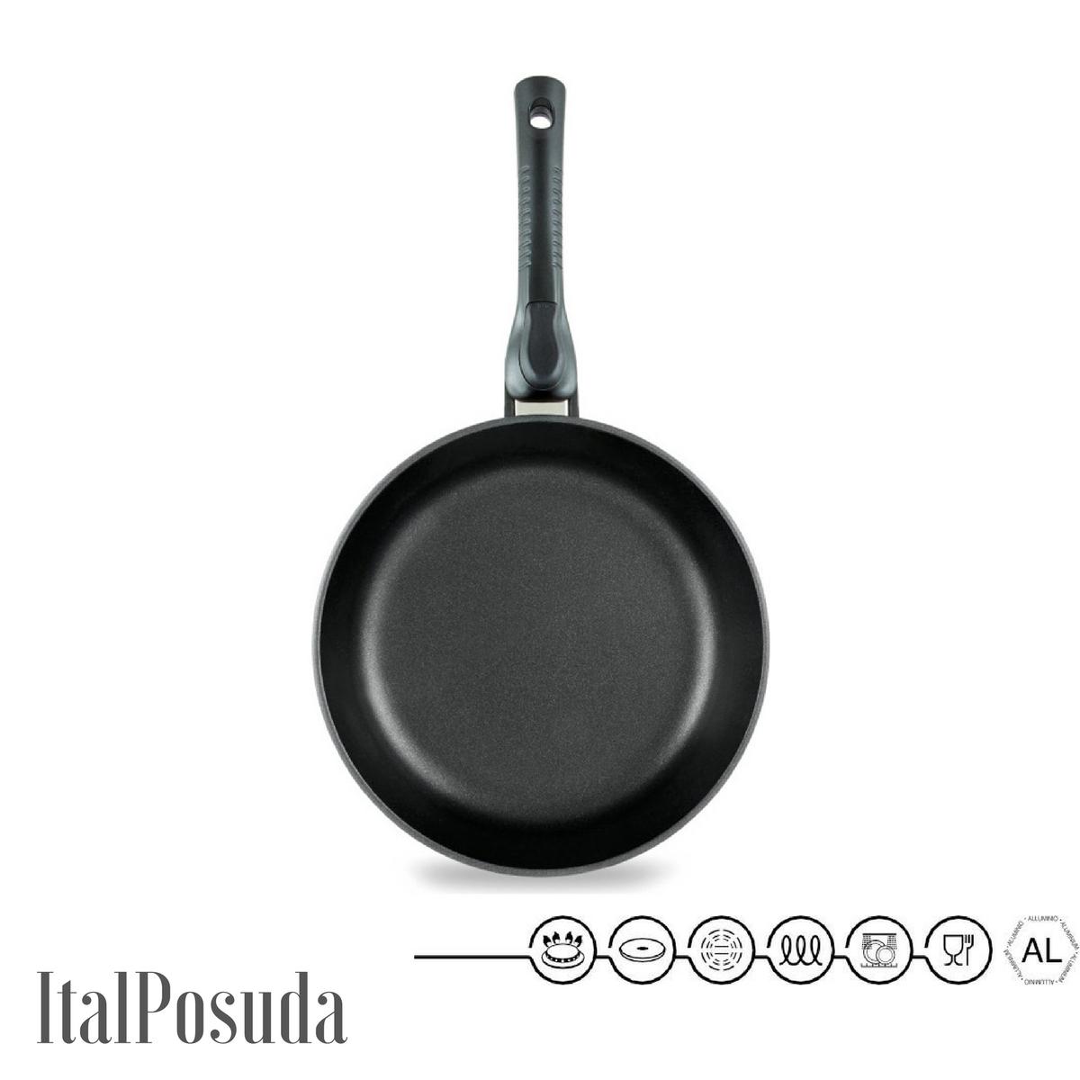 Сковорода со съёмной ручкой НМП Ферра Индукция, 24 см