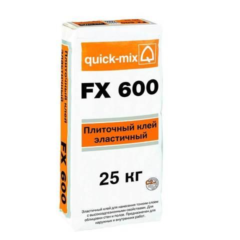 Quick-Mix FX 600 - Эластичный плиточный клей