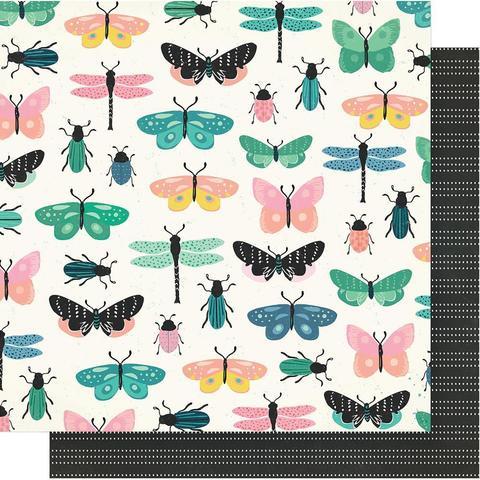 Лист двусторонней бумаги 30х30см - Maggie Holmes Flourish -Crate Paper