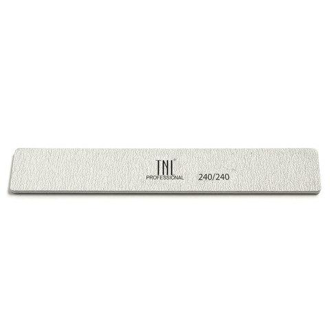 Пилка для ногтей широкая 240/240(Серая) в индивидуальной упаковке