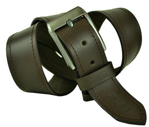 Мужской кожаный коричневый ремень 45Millen-109
