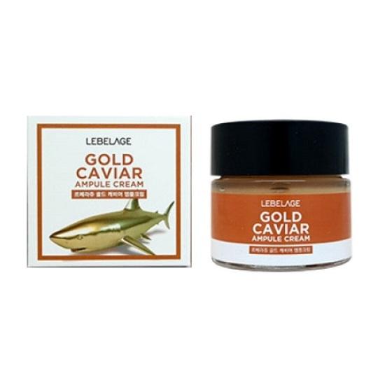 Крем для лица с экстрактом икры Lebelage Ampule Cream Gold Caviar 70мл