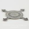 """Сеттинг - основа """"Черепашка"""" для камеи или кабошона 16 мм (оксид серебра)"""