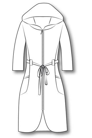 Выкройка халата с капюшоном на молнии