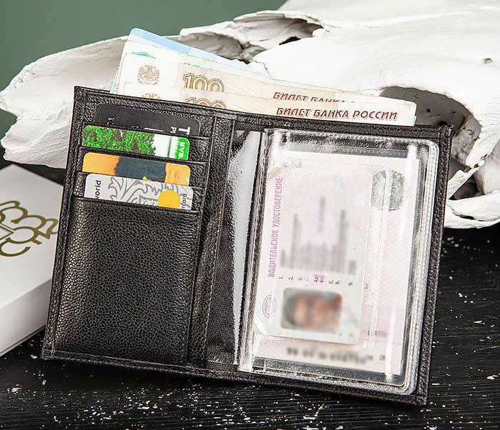 WL319-1 Бумажник автомобилиста для купюр, документов и карт, «Santini»